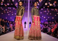 Lakme Winter 2013 Manish Malhotra collared shirt with pink lehnga