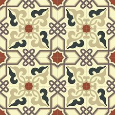 Mission Alcala Pattern - I love this classic pattern and the vibrant colors. #handmade #cement #tile