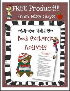 "FREE LESSON - ""FREE Christmas Book Exchange Activity"" - Go to The Best of Teacher Entrepreneurs for this and hundreds of free lessons. 4th - 8th Grade  #FreeLesson     #Christmas   http://www.thebestofteacherentrepreneurs.net/2015/11/free-misc-lesson-free-christmas-book.html"