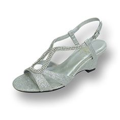 b6a01cf4212 FIC FLORAL Nikki Women Extra Wide Width Wedge Heel Sandals SILVER 10   You  can find