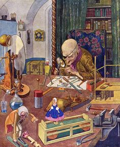 """Illustration by Artuš Scheiner from E.T.A. Hoffmann's """"The Nutcracker and the Mouse King"""", 1924"""
