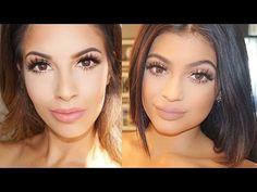 Hi my sugar plums thought I would create this everyday Kylie Jenner Makeup Tutorial for you guys! I know Kylie Jenners makeup has been super popular lately s. Kylie Makeup, Kiss Makeup, Makeup Tips, Hair Makeup, Makeup Inspo, Makeup Inspiration, Beauty Tutorials, Beauty Hacks, Beauty Tips