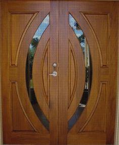 Wooden Front Door Design, Double Door Design, Door Gate Design, Wooden Front Doors, Door Design Interior, Wooden Double Doors, Timber Door, Arched Interior Doors, Double Doors Exterior