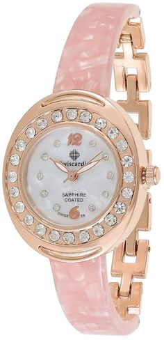 Swiscardin Women's Pearl White Dial Stainless Steel/Plastic Band Watch - 11192S-L price, review and buy in UAE, Dubai, Abu Dhabi | Souq.com