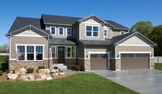 Stylish stone enhances the exterior of this spacious Harlow home in Riverton, UT. The exceptional plan, designed by Richmond American, also offers abundant windows and a convenient 3-car garage.