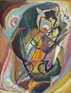 Untitled Improvisation III Wassily Kandinsky (Russia, Moscow, 1866-1944) Russia, 1914 Paintings Oil on cardboard