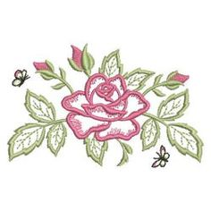 Satin Roses 08 machine embroidery designs