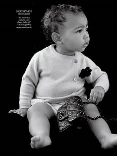 Kim And Kanye's Daughter North West Makes Her Modeling Debut For Chanel