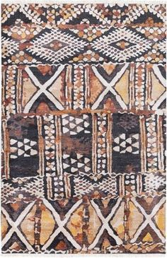 Tribal patterned, hand-knotted Zambia rug from Surya (ZAM-1001).