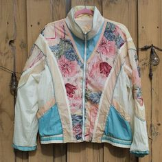 ba31163769dd Listed on Depop by robertasuncion. Pastel FloralWindbreakerVintage FloralAnorak  Jacket
