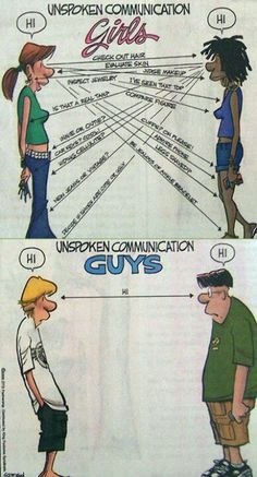 Unspoken communication ... friendship group?