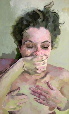 Three Hands, acrylic on canvas, 150 x 90 cm, 2006