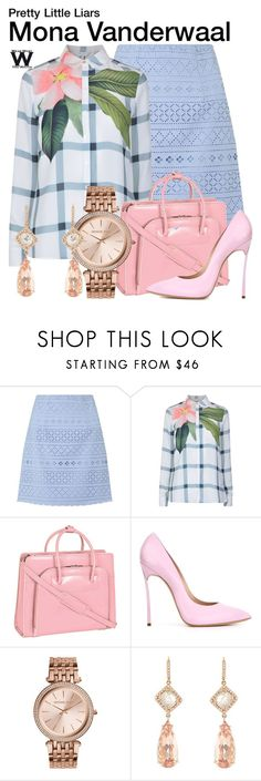 """""""Pretty Little Liars"""" by wearwhatyouwatch ❤ liked on Polyvore featuring Lipsy, Ted Baker, McKleinUSA, Casadei, Michael Kors, NSR Nina Runsdorf, television and wearwhatyouwatch"""
