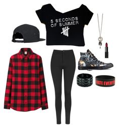 """""""Untitled #2283"""" by if-i-were-famous1 ❤ liked on Polyvore featuring Uniqlo, Topshop, Converse and NARS Cosmetics"""