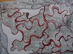 ARTES, DESARTES E DESASTRES CONTEMPORÂNEOS.Mapa para a gente se perder Técnica Mista (Nanquim, caneta hifrográfica e colagam sobre papel)
