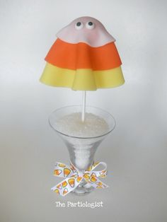 The Partiologist: Candy Corn Ghost Pop! how to