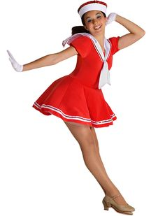welcome aboard Sailor Dance Costume, Twirling, Competition