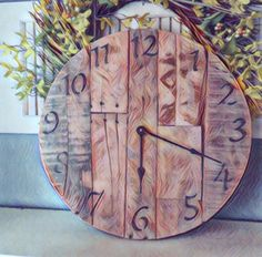 A personal favorite from my Etsy shop https://www.etsy.com/listing/255176931/18-wall-clock-rustic-clock-barn-wood