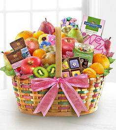 Spring Sensation Fruit & Sweets Gourmet Gift Basket