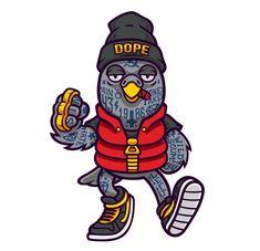 Dope Birds on Behance Black Cartoon Characters, Graffiti Characters, Dope Cartoons, Dope Cartoon Art, Character Art, Character Design, Mascot Design, Graffiti Art, Graffiti Tattoo