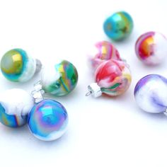 #picsher #holidays  Made to Order  12 Mini Christmas Balls 1-1/4 by CreationsByJDB