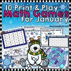 These versatile math games can be used in centers, for enrichment, remediation, small groups, or even homework! These games do not require separate cards to cut and keep track of and most require you only to provide dice. Teacher notes for each game are included.Games cover addition with 2 and 3 digits, addition combined with geometry, subtraction from 20, forms of numbers, and using multiple operations to solve a problem.See the preview for details!