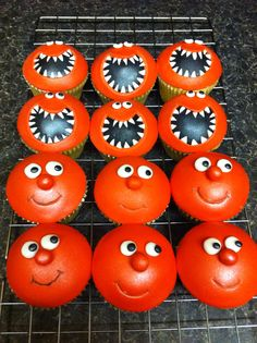 Red Nose Day cupcakes for comic relief!