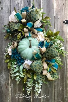 Fall Pumpkin Wreath by Holiday Baubles