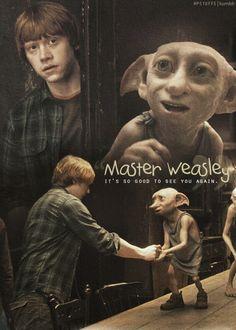 Pinned by: ☾OohmyJupiterr Harry Potter World, Harry Potter Movie Trivia, Harry Potter Book Covers, Harry Potter Theme, Harry Potter Quotes, Harry Ptter, Rupert Grint, Ron Weasley, Dobby