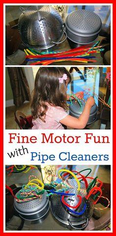 Q-Tips and Straws - Fine Motor Skills Activity