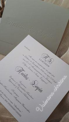 Μοναδικά προσκλητήρια γάμου με στυλ και φινέτσα by valentina-christina 2105157506 Ιδιαίτερα προσκλητήρια γαμου by valentina-christina #προσκλητήρια #προσκλητηρια #προσκλητήρια_γάμου#προσκλητήριο#prosklitiria#prosklitirio #weddingcard#valentinachristina Personalized Items, Simple, Wedding, Vintage, Ticket Invitation, Casamento, Weddings, Marriage, Primitive