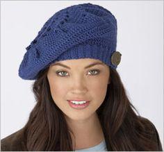 Bee-u-ti-ful Blueberry Beret: free crochet pattern