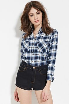 Plaid Flannel Shirt | Forever 21 - 2000171205