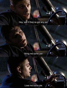supernatural, pie, and Jensen Ackles image