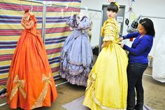 Photo of Ensemble member Kendal Hartse is helped into her elaborate gown. Rodgers And Hammerstein's Cinderella, Cinderella Broadway, Laura Osnes, Thanksgiving Day Parade, Kendall, Prince, It Cast, Gowns, Dreams