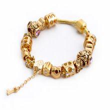 10d8e6ea0b5d página pandora bracelet. Verano Estilo Europeo Oro Cadena Pulseras y  Brazaletes de Cristal ...