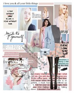 """pink paper planes"" by lseed87 ❤ liked on Polyvore featuring Wolford, Olsen, STELLA McCARTNEY, Loeffler Randall, Pink, Blue, grey, pastels and oasap"
