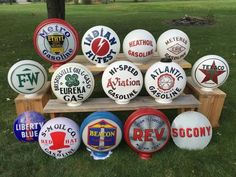 Rare Collection of early gas pump globes!