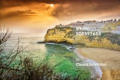 The village of #Carvoeiro, in #Algarve, at the #sunset light. | #landscape #seascape #travel #print |