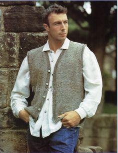 4511ae34d00040 Mens Knitting Pattern mens waistcoat mens sleeveless by Hobohooks Mens Sleeveless  Cardigan