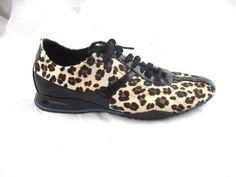 Cole Haan Nike Air Fur D17778 8.5B womens brown leopard print sneakers flats  #ColeHaan #Oxfords #Casual
