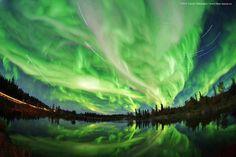 Looks like the northern lights