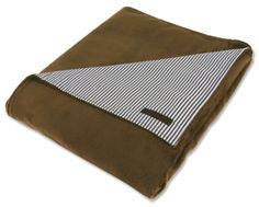 """On one side, this blanket is a hip, stylish pattern. On the other, a soft minky fabric.  We embroider on the solid side. Blanket measures 30"""" x 40"""". A Little Bit Of This Two Sided Receiving Blanket Yacht Stripe. Click the image to get more information about the product, including personalization options, at our online store!"""