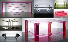 Alexandra Von Furstenberg's neon acrylic furniture and accessories.