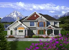 Elevation of Traditional   House Plan 97372  This home plan is gorgeous!! I really like all the outside details.