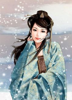 Huaruifuren Shu Emperor Meng Chang Fei Royal, the Five Dynasties and Ten Kingdoms Period poetess, Qingcheng. Chinese Artwork, Chinese Painting, 3d Fantasy, Fantasy Women, Beautiful Fantasy Art, Beautiful Anime Girl, Art Chinois, Foto Art, Creative Pictures