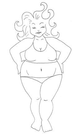 Plus Size Fashion Drawing #1