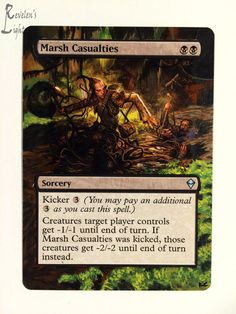 Marsh Casualties - Full Art - MTG Alter - Revelen's Light Altered Art Magic Card