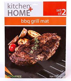 596a0e30e43 Kitchen + Home – BBQ Grill Mats -100% Non-stick, Heavy Duty, Reusable, BPA  PFOA Free BBQ Grilling Accessories – 15.75 x 13 – (Set of 4)