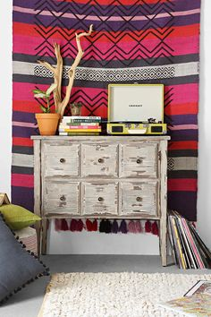 6-Drawer Distressed Dresser - Urban Outfitters                                                                                                                                                                                 More